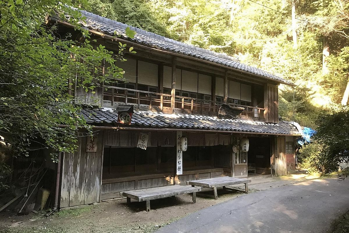Hikers on the Yagyu Kaido trail (left) can rest and recharge at the Toge Chaya tea house (above), which dates from the Edo period and has, on its walls, swords and rifles of samurai who left their weapons behind to pay their bill.