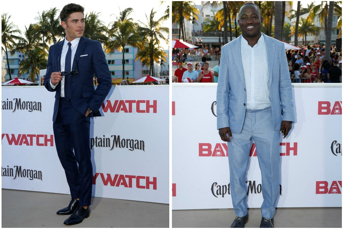 Zac Efron (left) and Hannibal Buress at the premiere.
