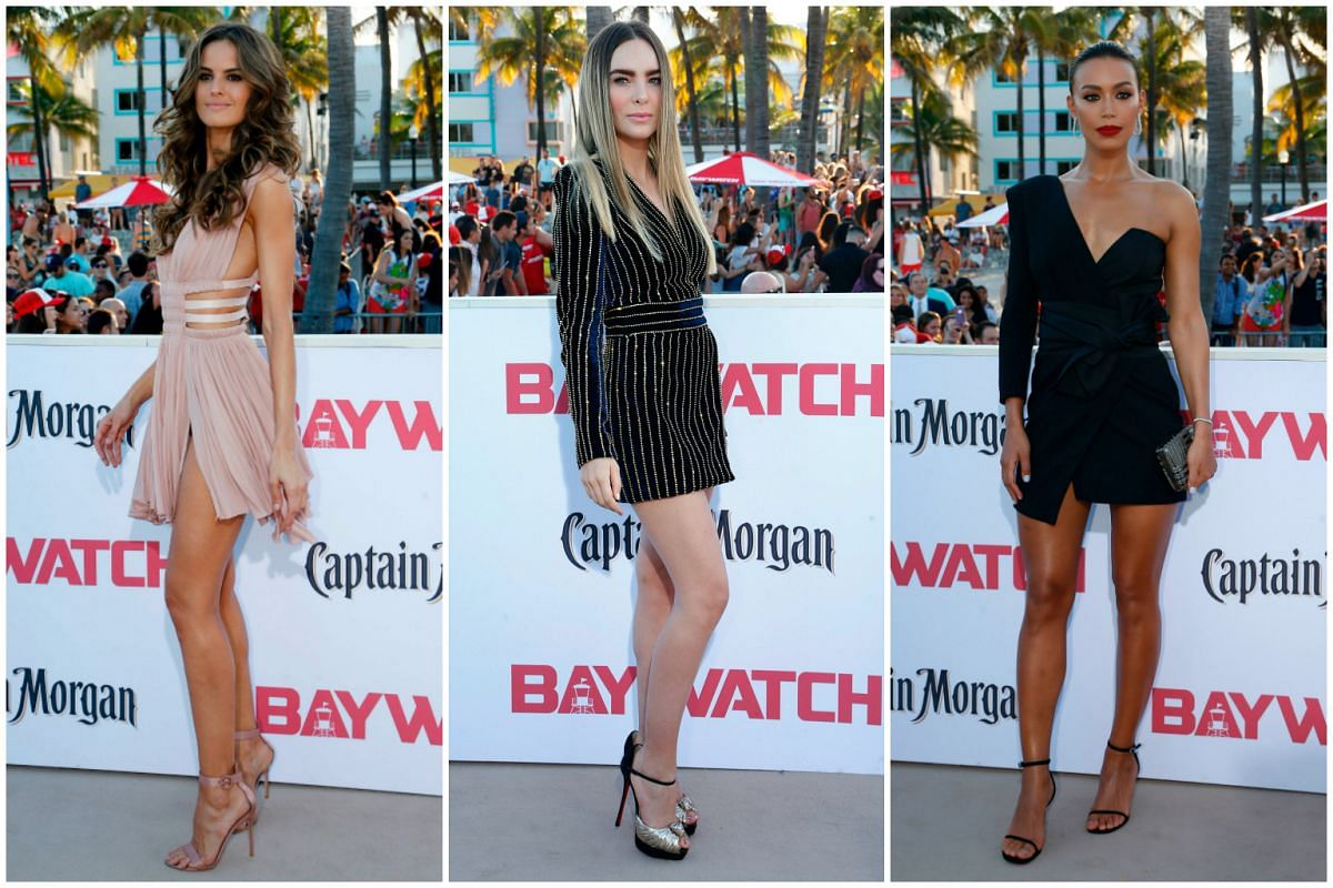 (From left) Izabel Goulart, Belinda and Ilfenesh Hadera at the premiere.