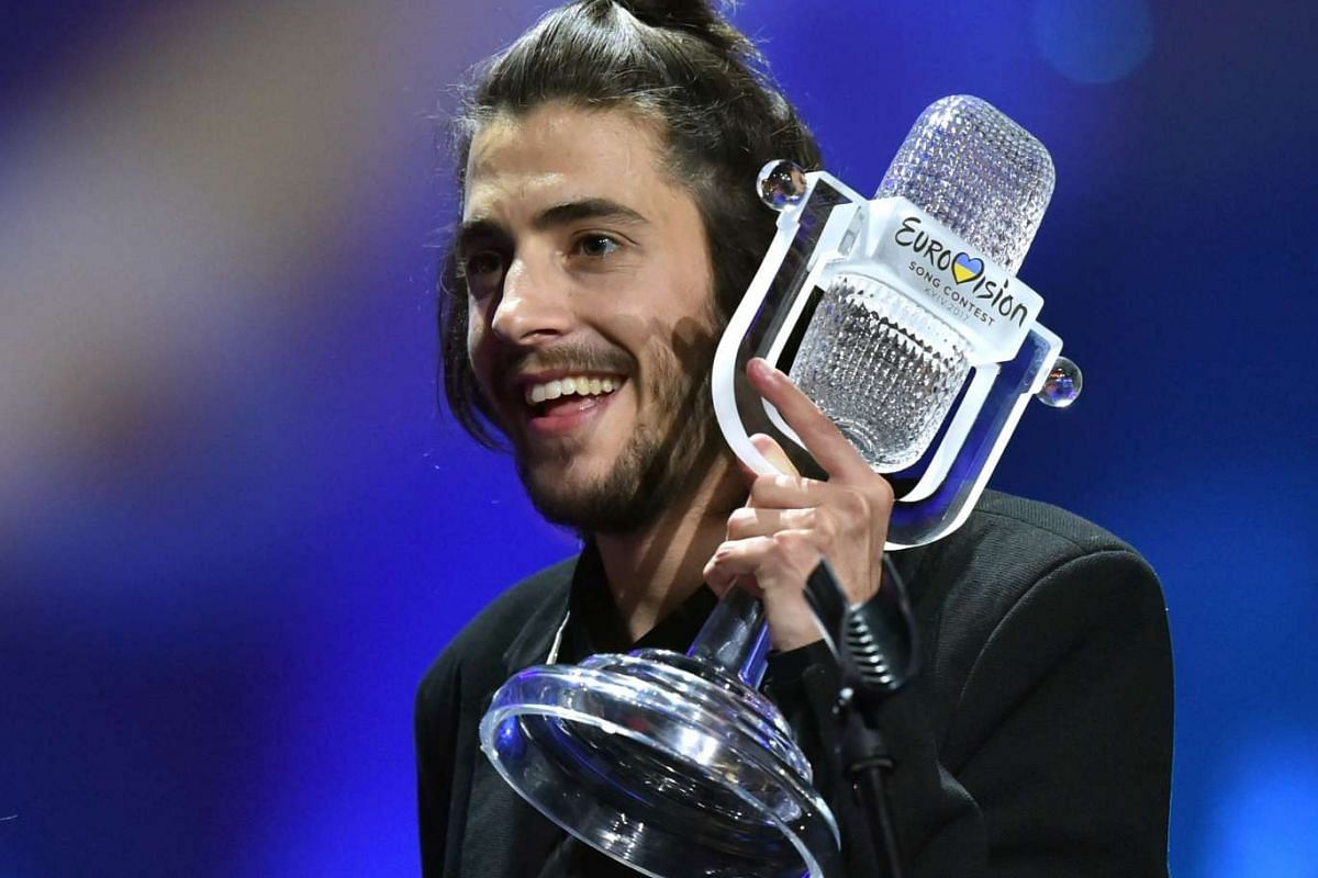 Salvador Sobral from Portugal won the contest with the song Amar Pelos Dois.