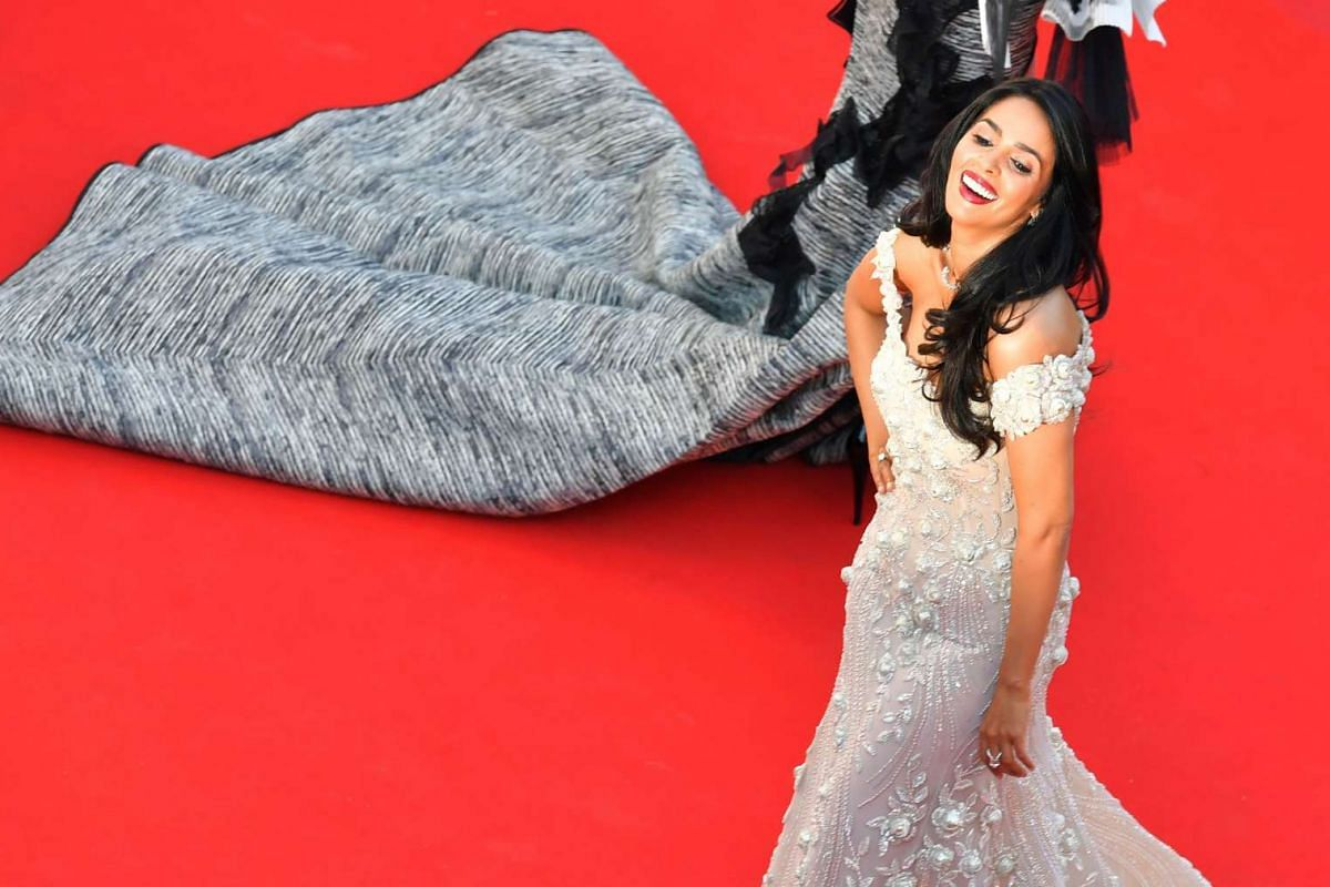 Indian actress Malika Sherawat  arrives for the screening of Ismael's Ghosts (Les Fantomes d'Ismael), the opening film for the festival.