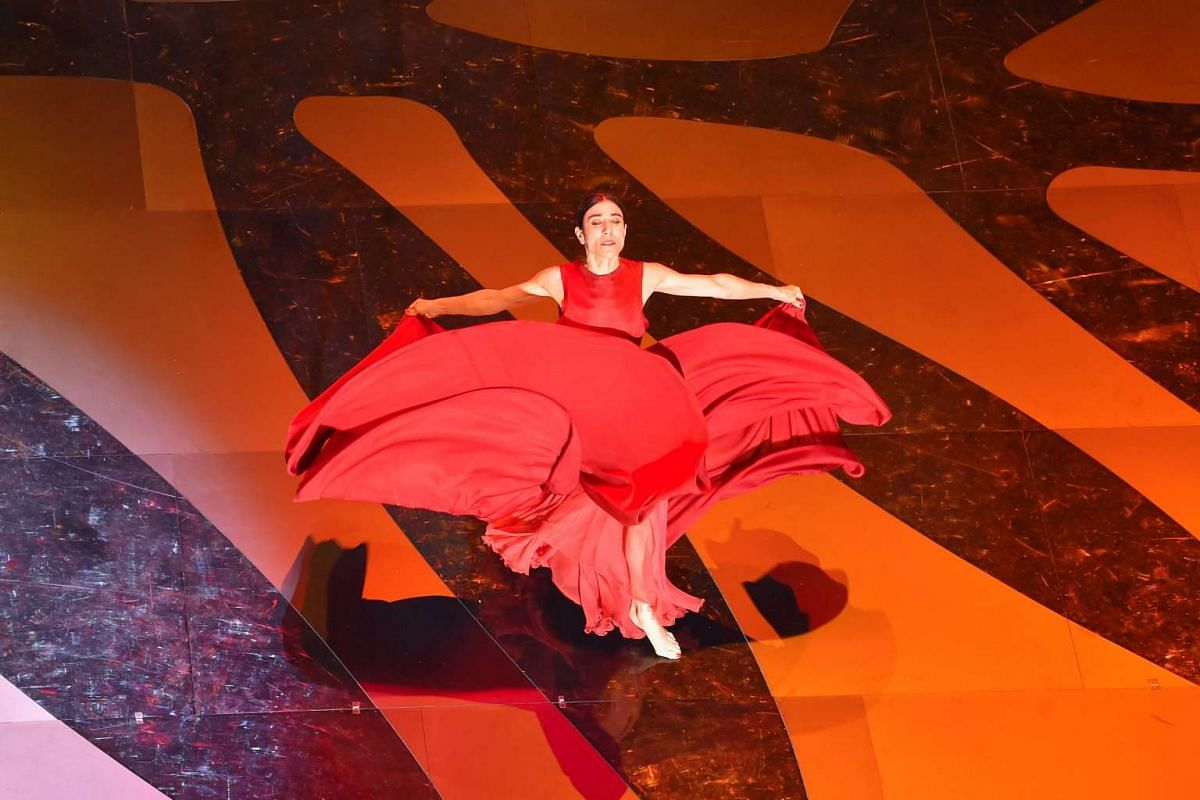 Spanish dancer and choreographer Blanca Li performs on stage during the opening ceremony.