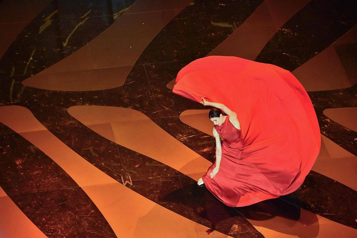 Spanish dancer and choreographer Blanca Li performs on stage on Wednesday (May 17) during the opening ceremony of the 70th edition of the Cannes Film Festival in southern France.