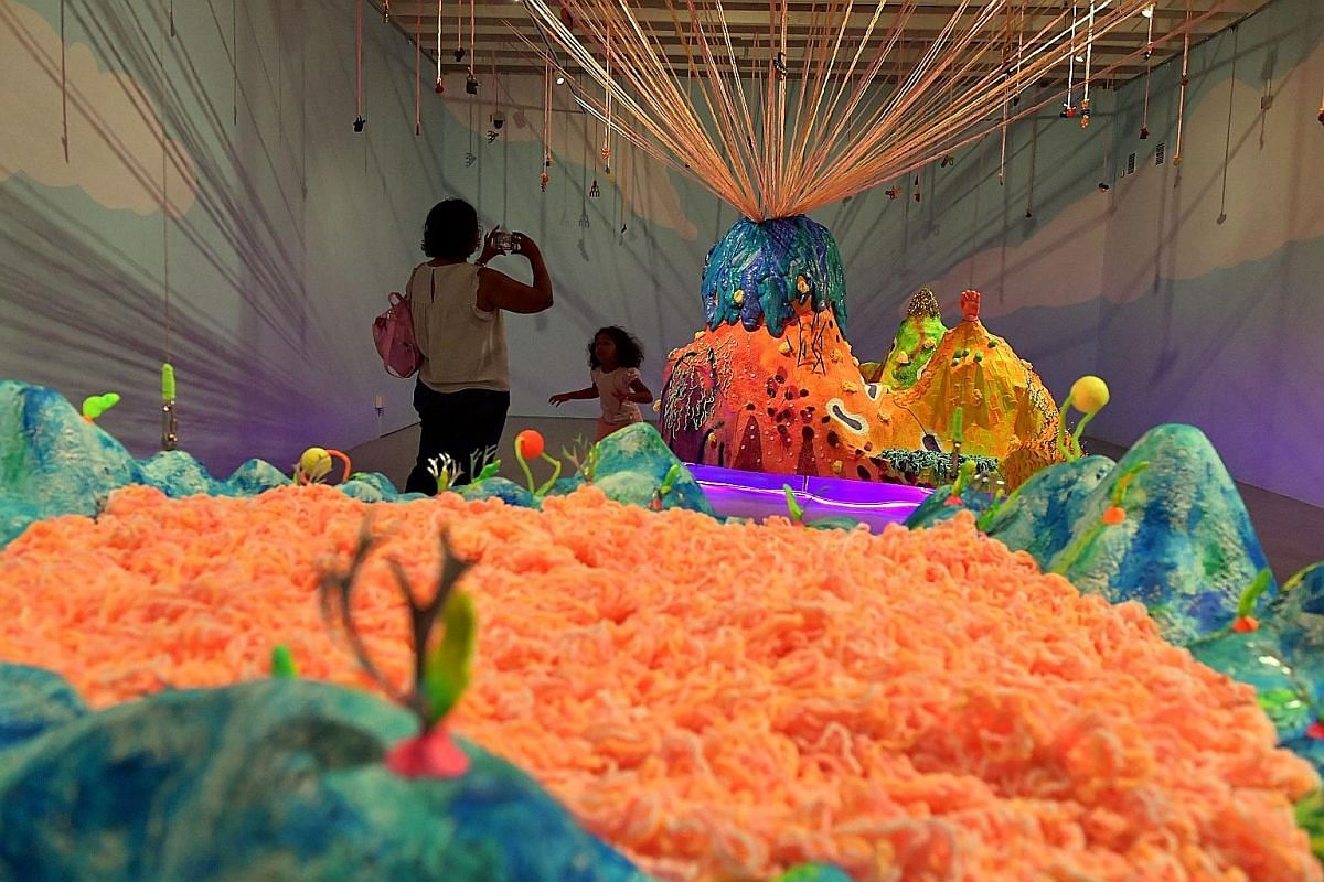 Floating Mountain by Thai artist Unchalee Anantawat is among the works on display at SAM at 8Q.