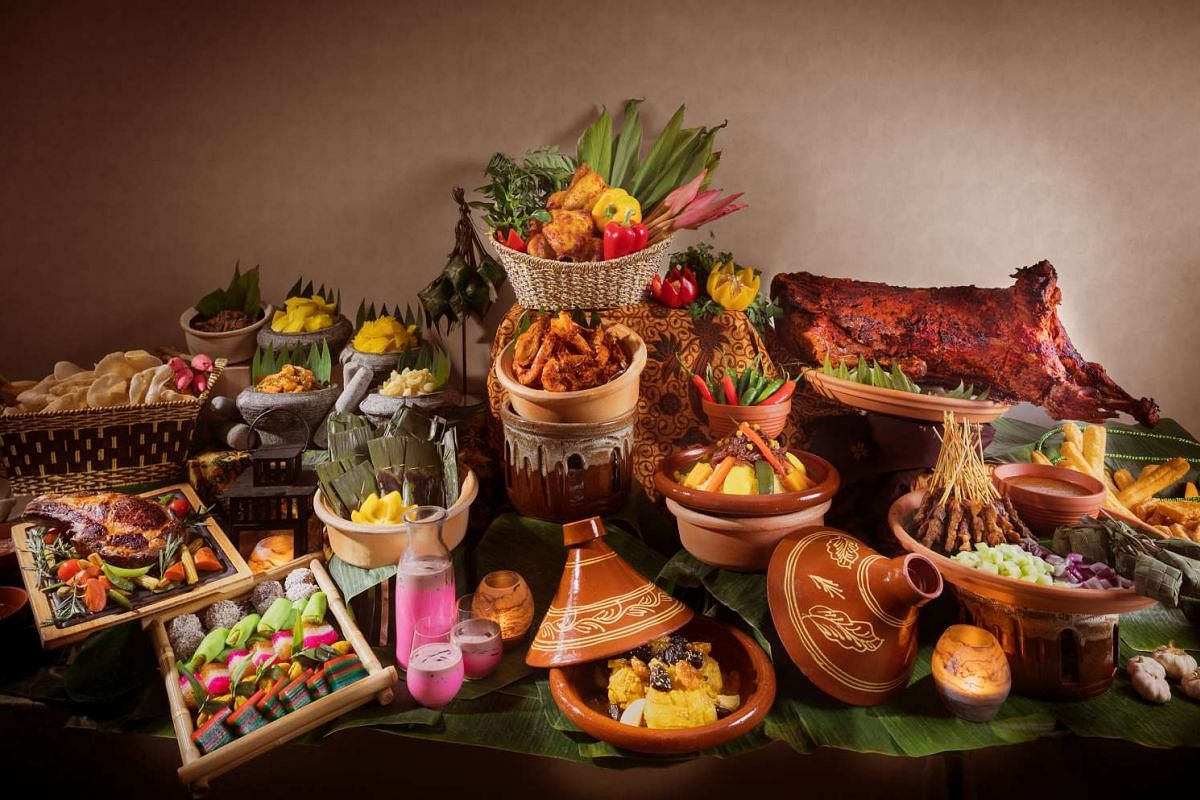 Hilton Singapore's pop-up buffet restaurant serves more than 90 dishes, including beef rendang and Penang assam laksa.