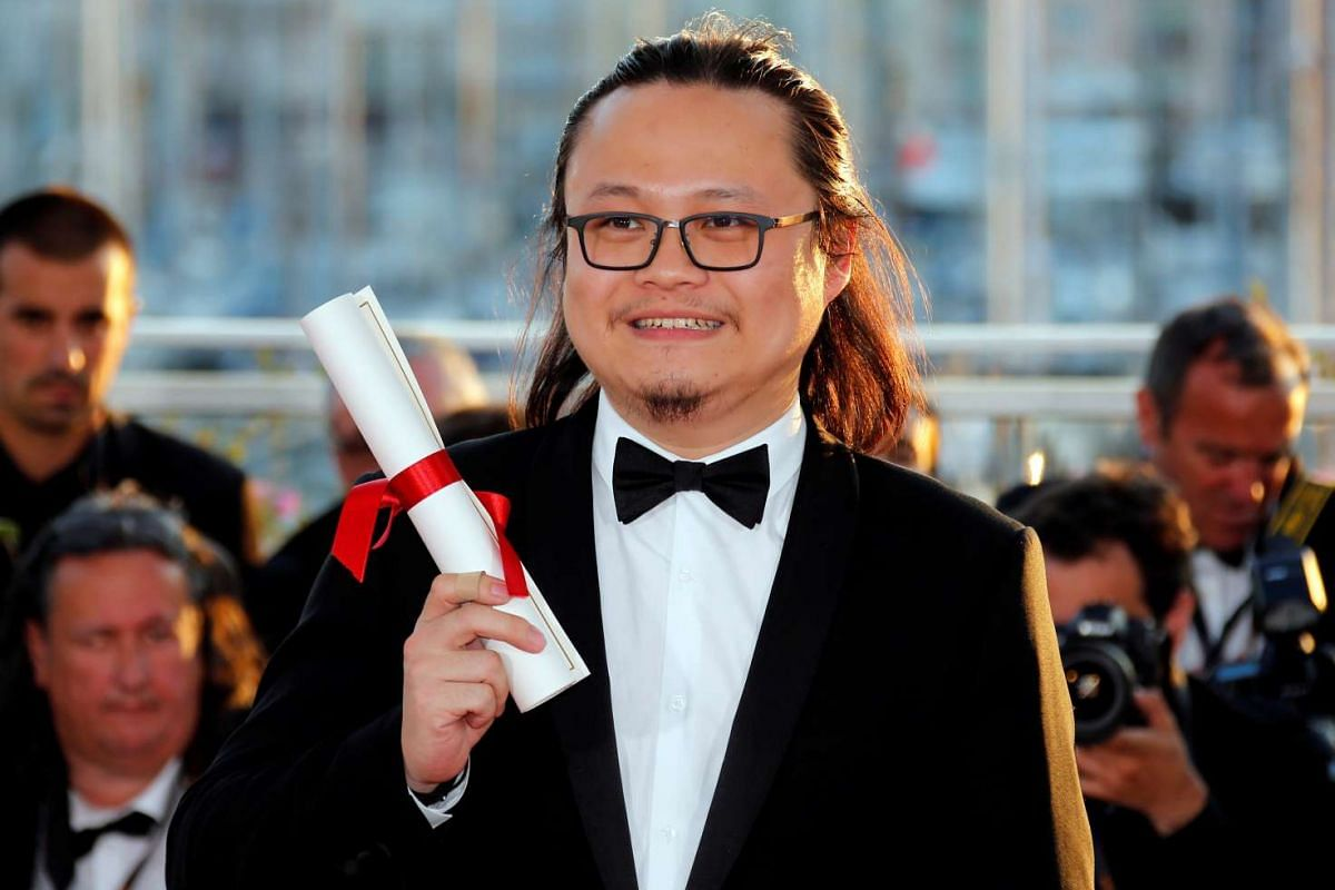 Director Qiu Yang received the Best Short Film award for his film A Gentle Night.
