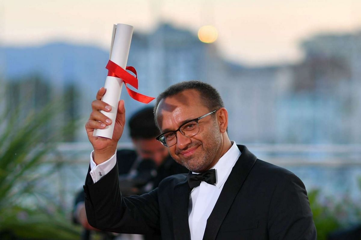 Russian director Andrey Zvyagintsev during a photocall after he won the Jury Prize for his film Loveless (Nelyubov).