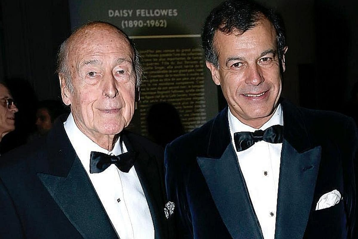 My life so far: Mr Giscard d'Estaing with his father in a photo taken a few years ago.