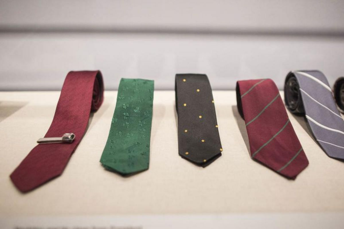 Various items owned by President John F. Kennedy on display at the JFK 100: Milestones & Mementos exhibition.