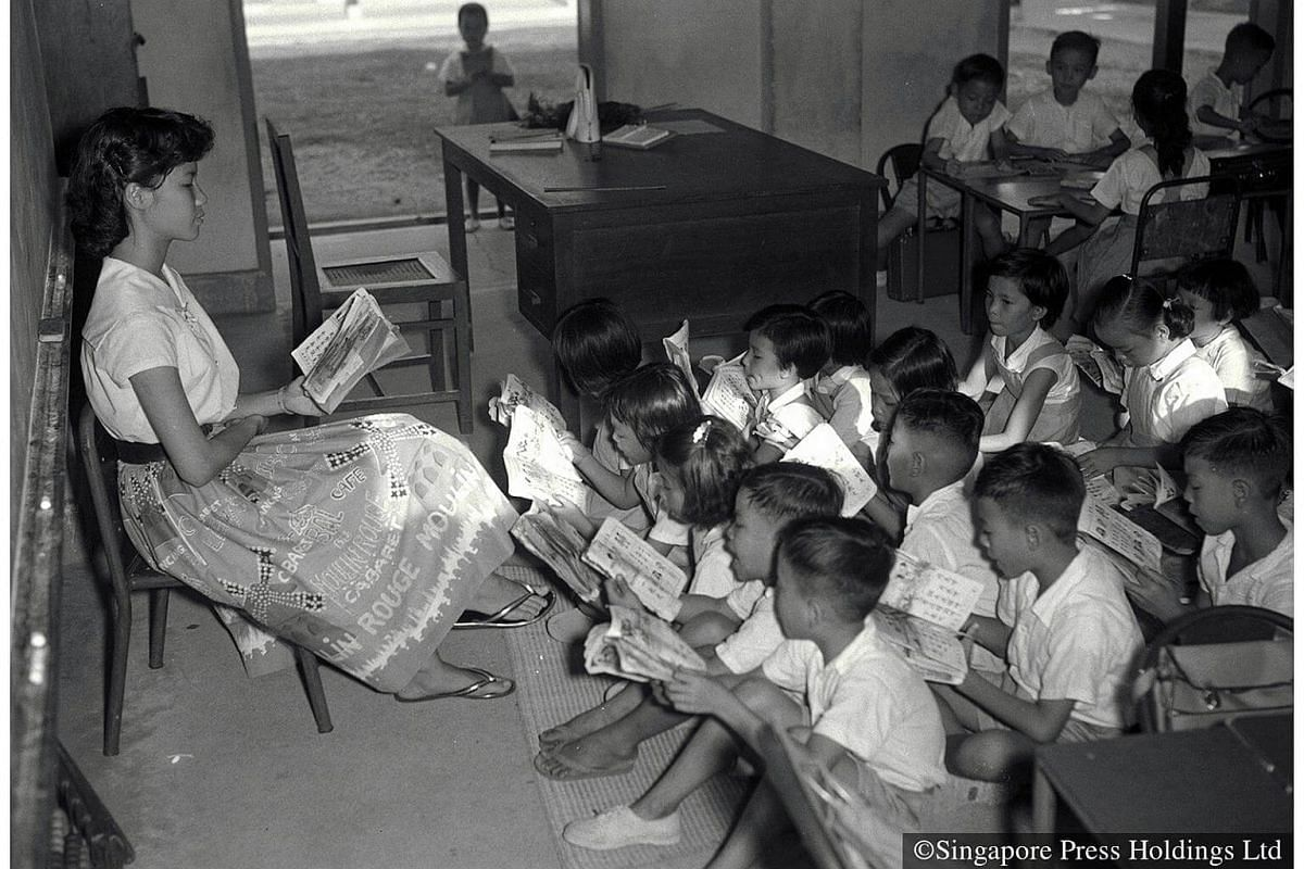 1959: A primary one class in session at Havelock Road School.