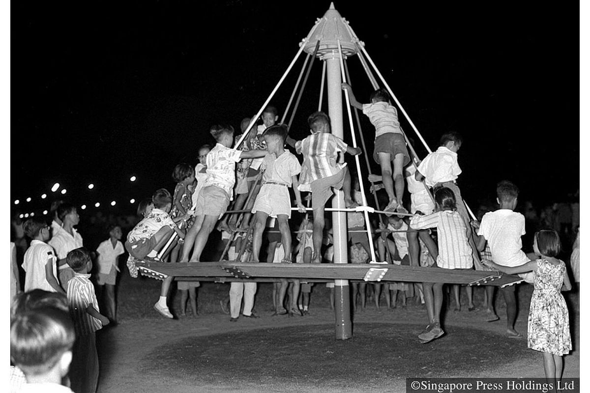 1959: The merry-go-round was a hit at the newly built Kallang Park.