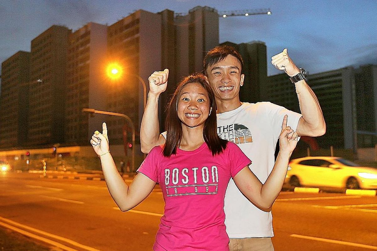 Undergraduate Guo Jing Yang, 24, and administrative clerk Janice Ng, 23, successfully applied for a Build-To-Order flat in August last year.