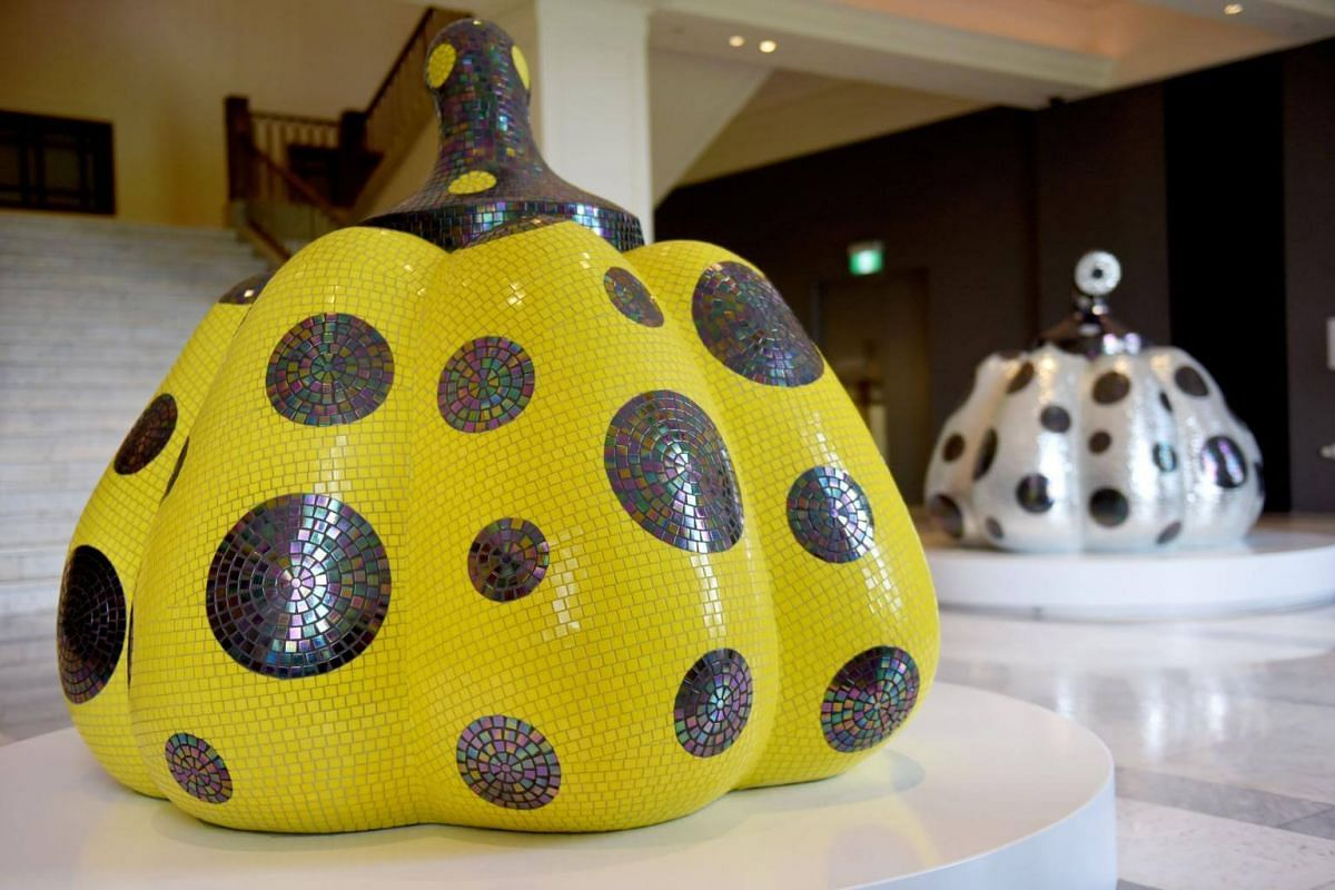 Starry Pumpkin (2016), part of the National Gallery's upcoming mega exhibition by Yayoi Kusama called Yayoi Kusama: Life is the Heart of a Rainbow.