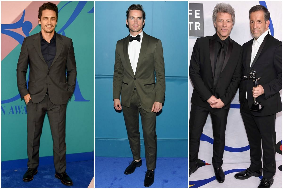 Actors James Franco and Matt Bomer, singer Jon Bon Jovi and designer Kenneth Cole at the 2017 CFDA Fashion Awards in New York City on Monday (June 5).
