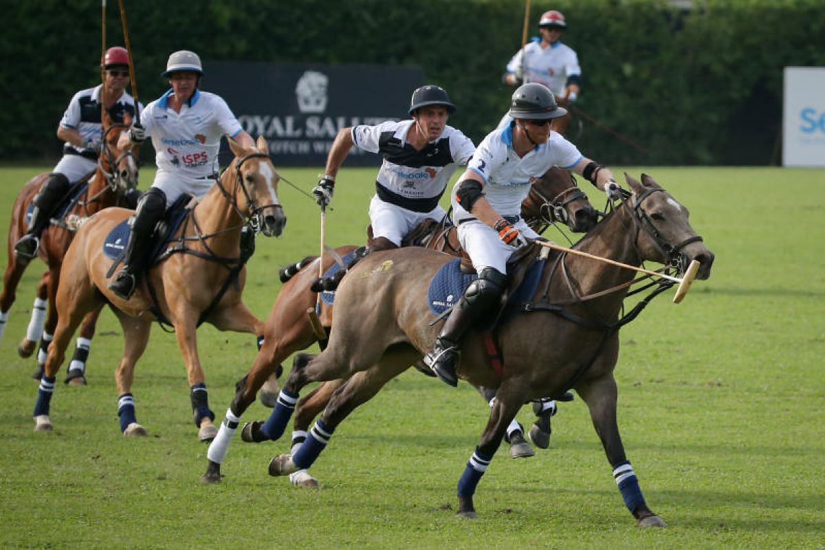 Prince Harry (right) playing at the Sentebale Royal Salute Polo Cup. Sentebale is the Prince's foundation for children in Africa.