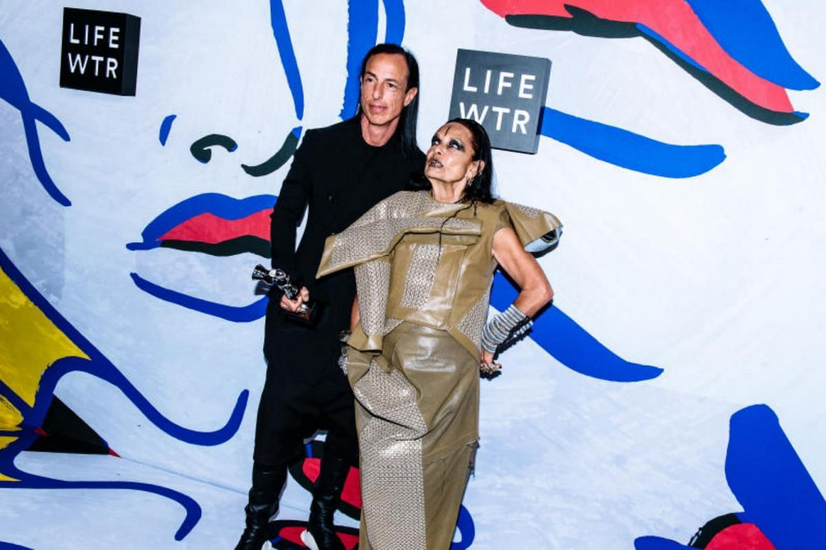 Designer Rick Owens and his wife Michele Lamy at the annual Council of Fashion Designers of America awards at the Hammerstein Ballroom.