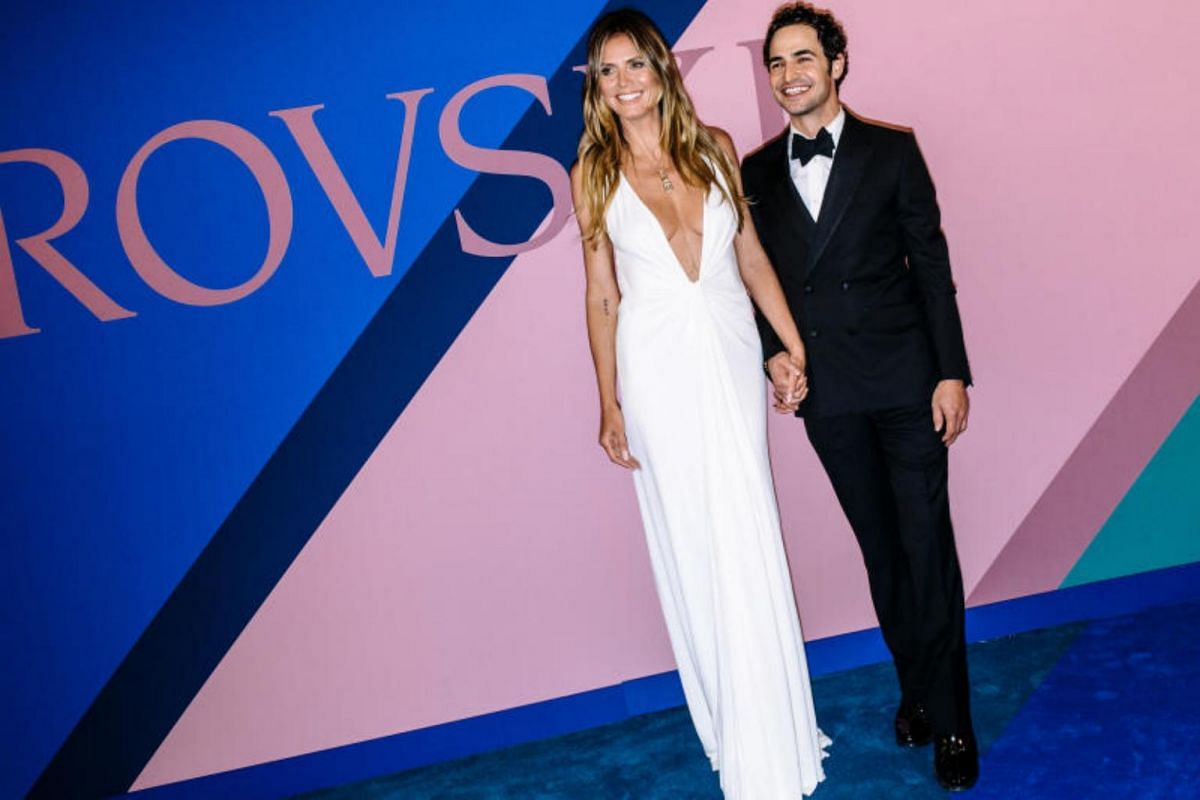 Model Heidi Klum and designer Zac Posen at the annual Council of Fashion Designers of America awards at the Hammerstein Ballroom in New York, June 5, 2017.