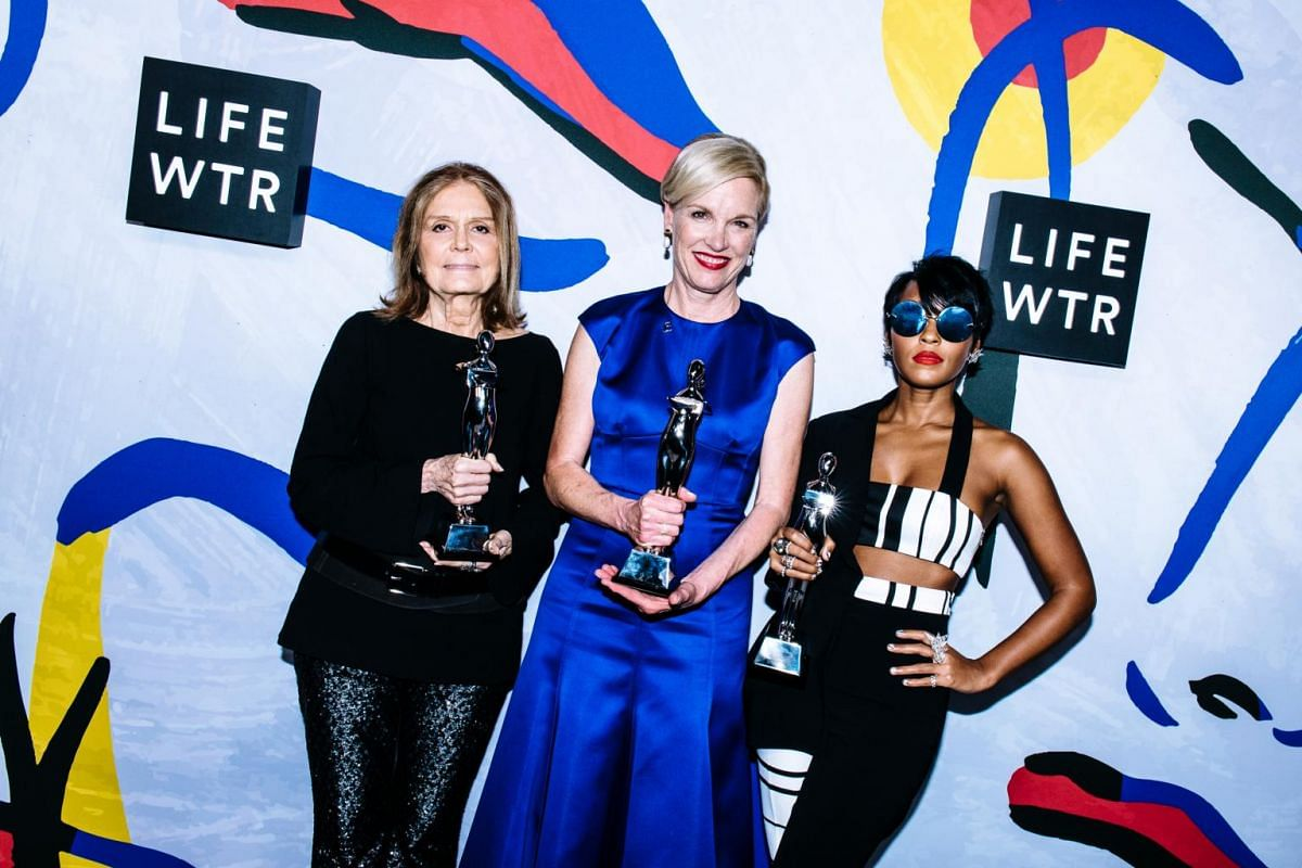 From left, feminist Gloria Steinem, Cecile Richards, president of Planned Parenthood Federation of America, and actress/singer Janelle Monae were recipients of the Board of Directors' Tribute.