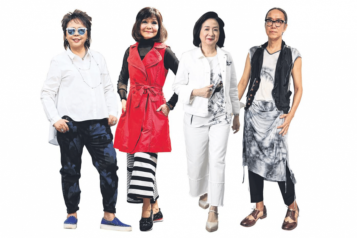 (From far left) Ms Jessie Chng, 70, retiree; Ms Mei Lam, 68, sales administrator; Ms Ester Tay, 62, creative director; Mr Francisco Raquiza, 61, hairstylist.