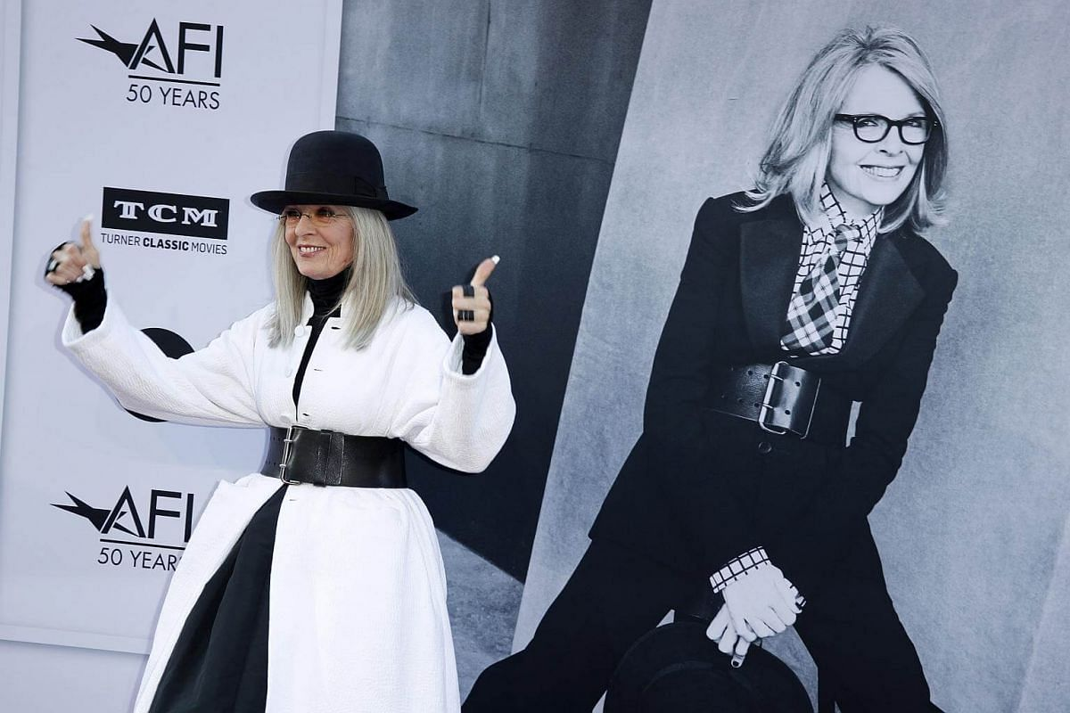 Actress Diane Keaton arriving for the American Film Institute Lifetime Achievement Gala Tribute Event at the Dolby Theatre in Hollywood, California, USA, on June 8, 2017.