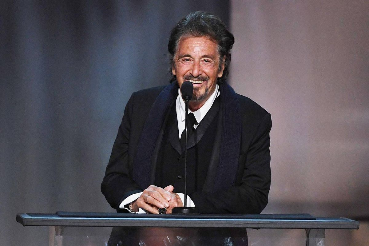 Actor Al Pacino speaking onstage during American Film Institute's 45th Life Achievement Award Gala Tribute to Diane Keaton at Dolby Theatre in Hollywood, California, on June 8, 2017.