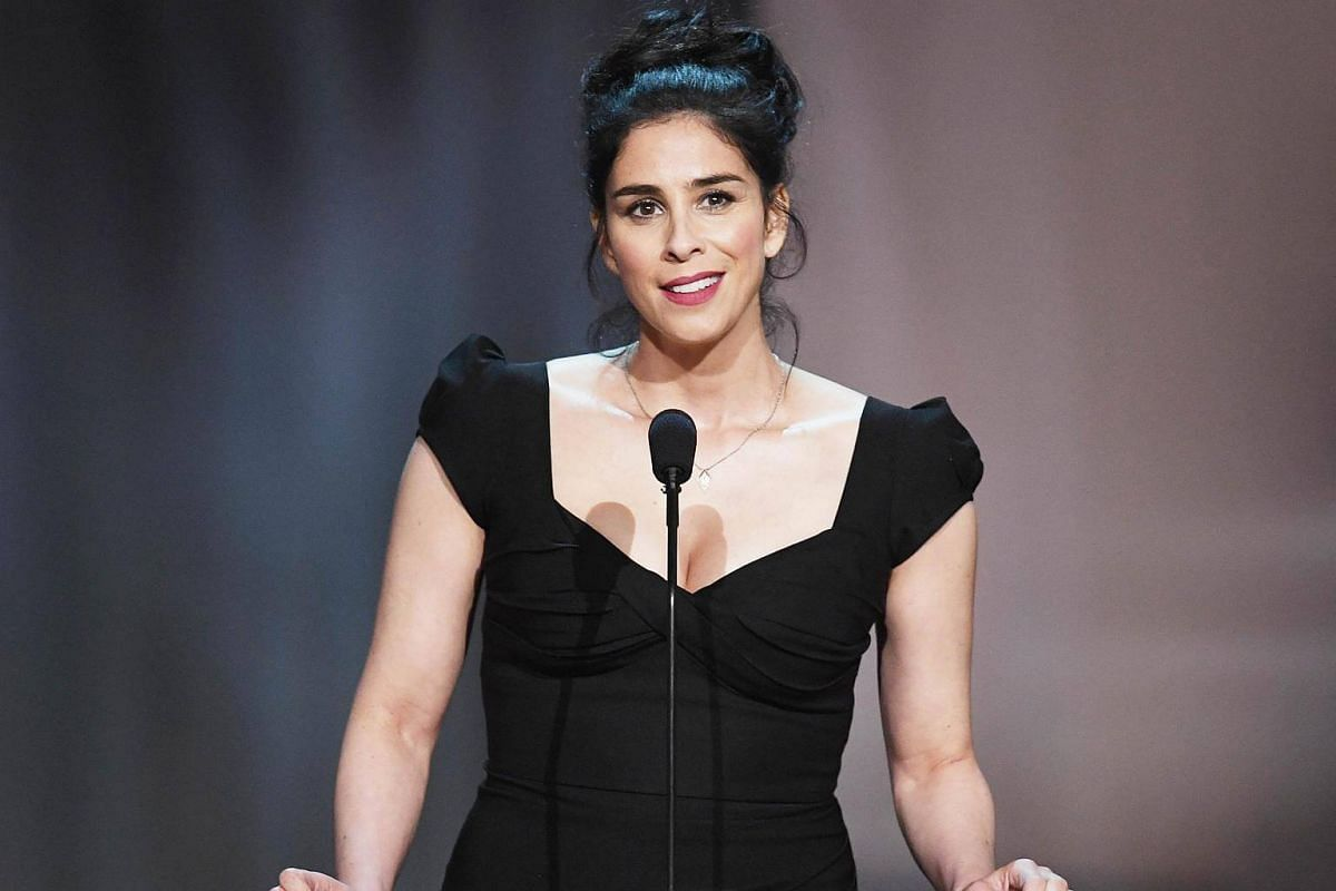 Actress Sarah Silverman speaks onstage during American Film Institute's 45th Life Achievement Award Gala Tribute to Diane Keaton at Dolby Theatre in Hollywood, California, on June 8, 2017.