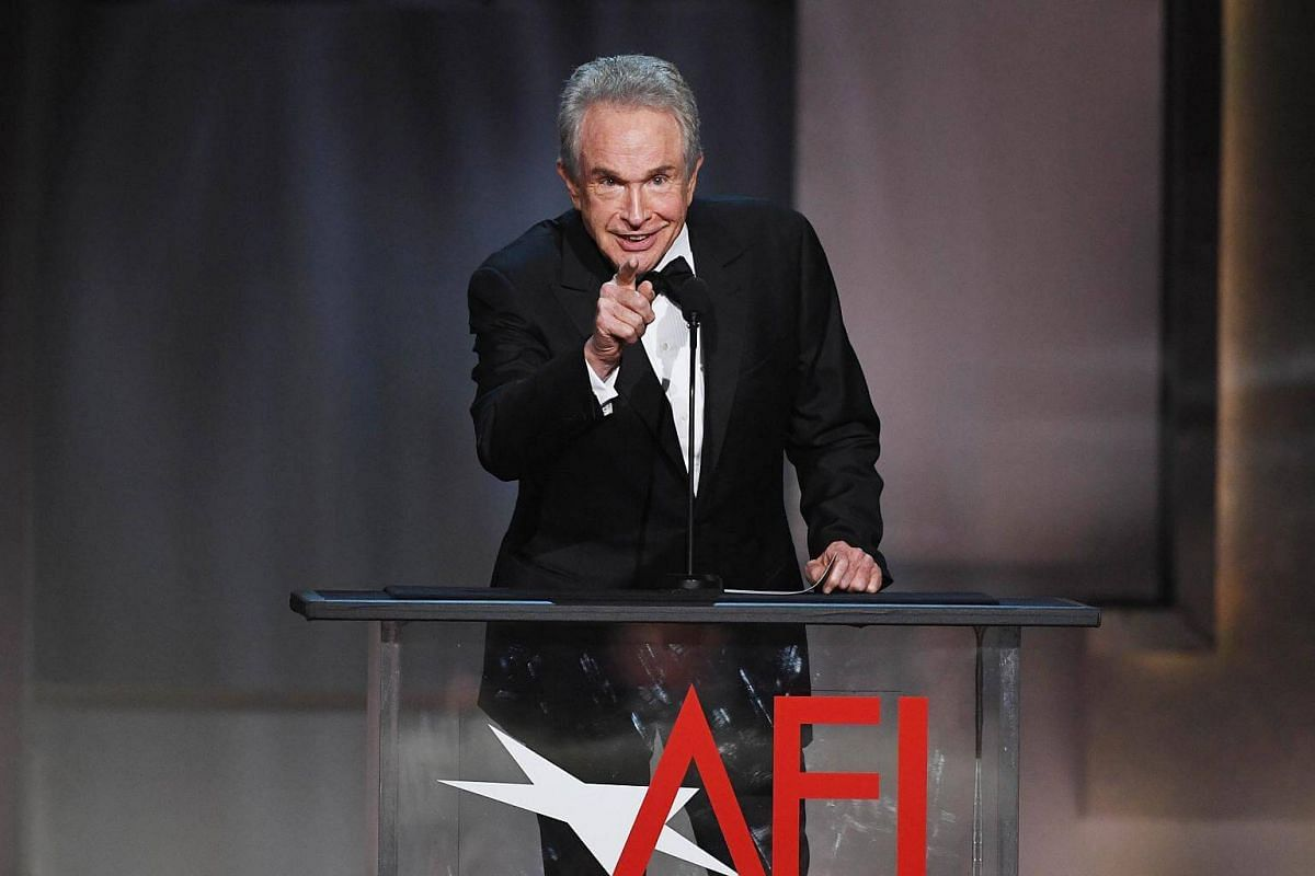 Actor Warren Beatty speaking onstage during American Film Institute's 45th Life Achievement Award Gala Tribute to Diane Keaton at Dolby Theatre in Hollywood, California, on June 8, 2017.
