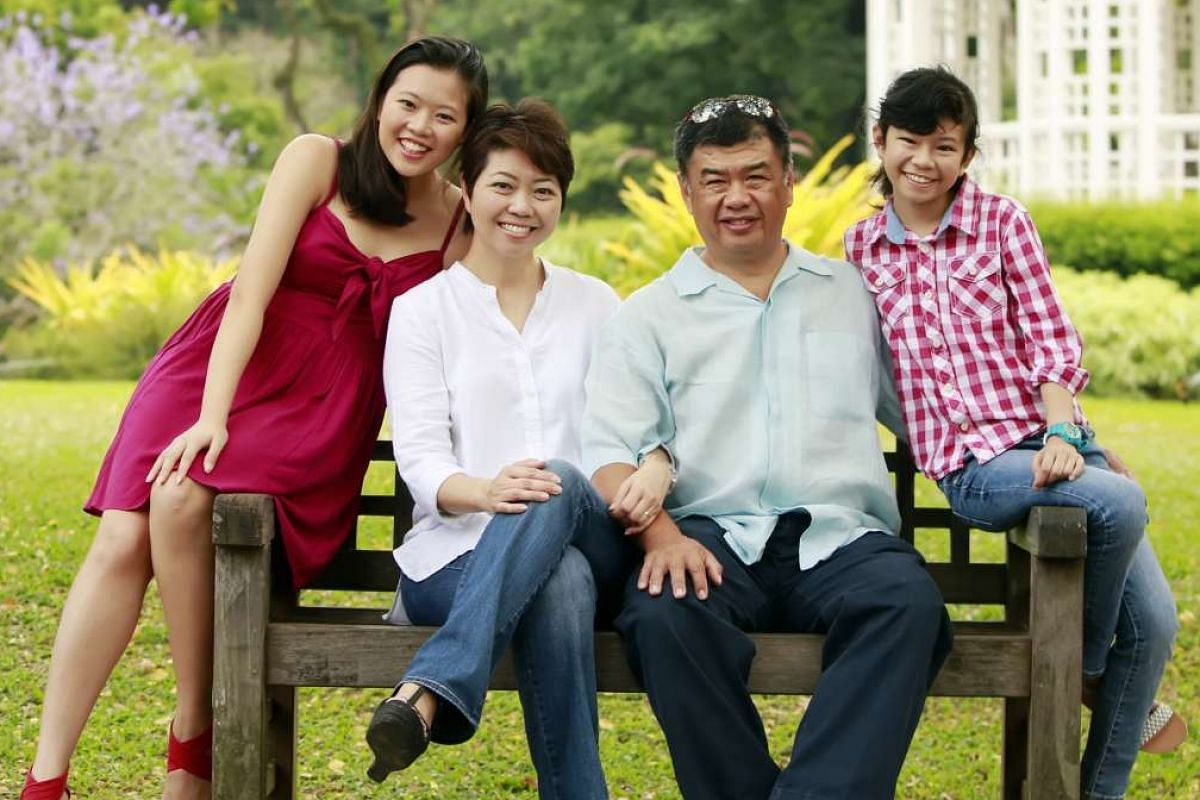 The Liao family – (from left) Andrea, Abegail, Stanley and Lauren – have been volunteering as a family with Make-A-Wish Singapore since last year.