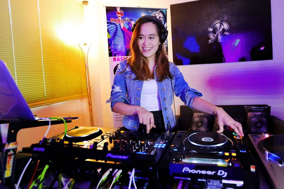University student Rica Wong Chu Wen started DJing only two years ago and is now a resident DJ at a club.