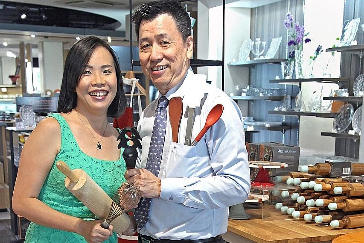 Mr Tan Choon Boon is the chief executive of Sia Huat, which sells kitchenware to industrial kitchens, restaurants and chefs, while his daughter Grace is the director of household kitchenware retailer and lifestyle store ToTT (Tools of The Trade).