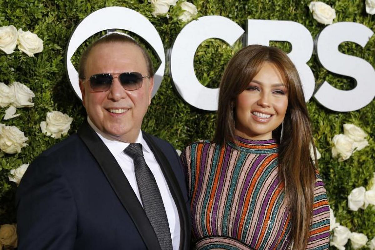 Singer Thalia and music executive Tommy Mottola.