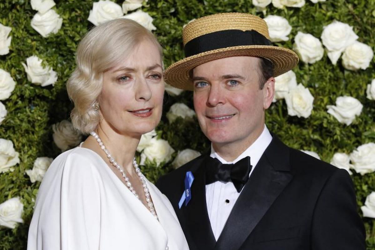 Actors Susan Lyons and Jefferson Mays.