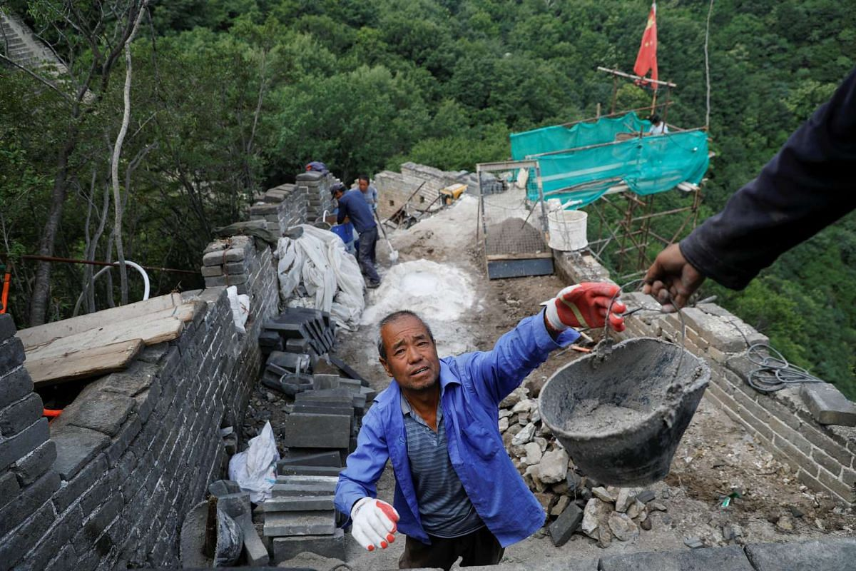 Much of the work involves back-breaking manual labour, as few machines can be transported up the mountainous terrain.
