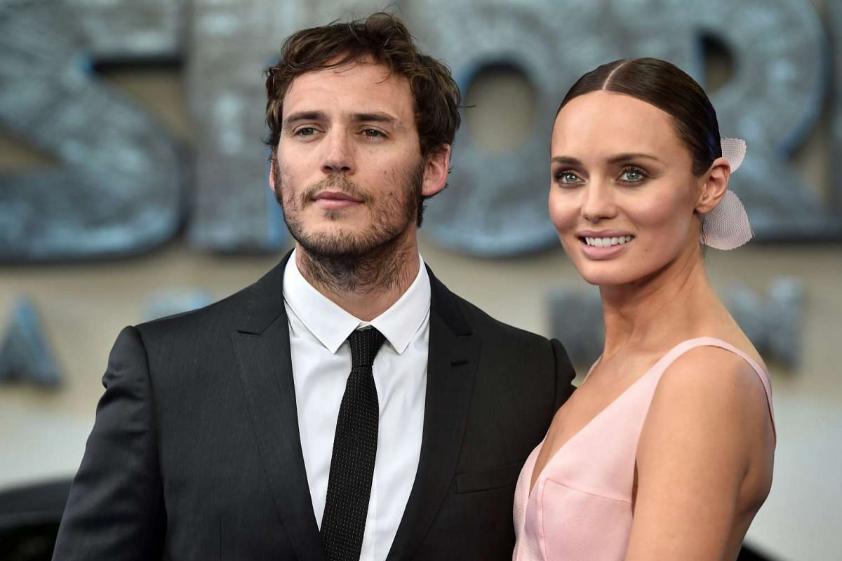 Laura Haddock and her husband Sam Claflin arrive for the world premiere of Transformers: The Last Knight, at a cinema in central London, Britain, June 18, 2017.