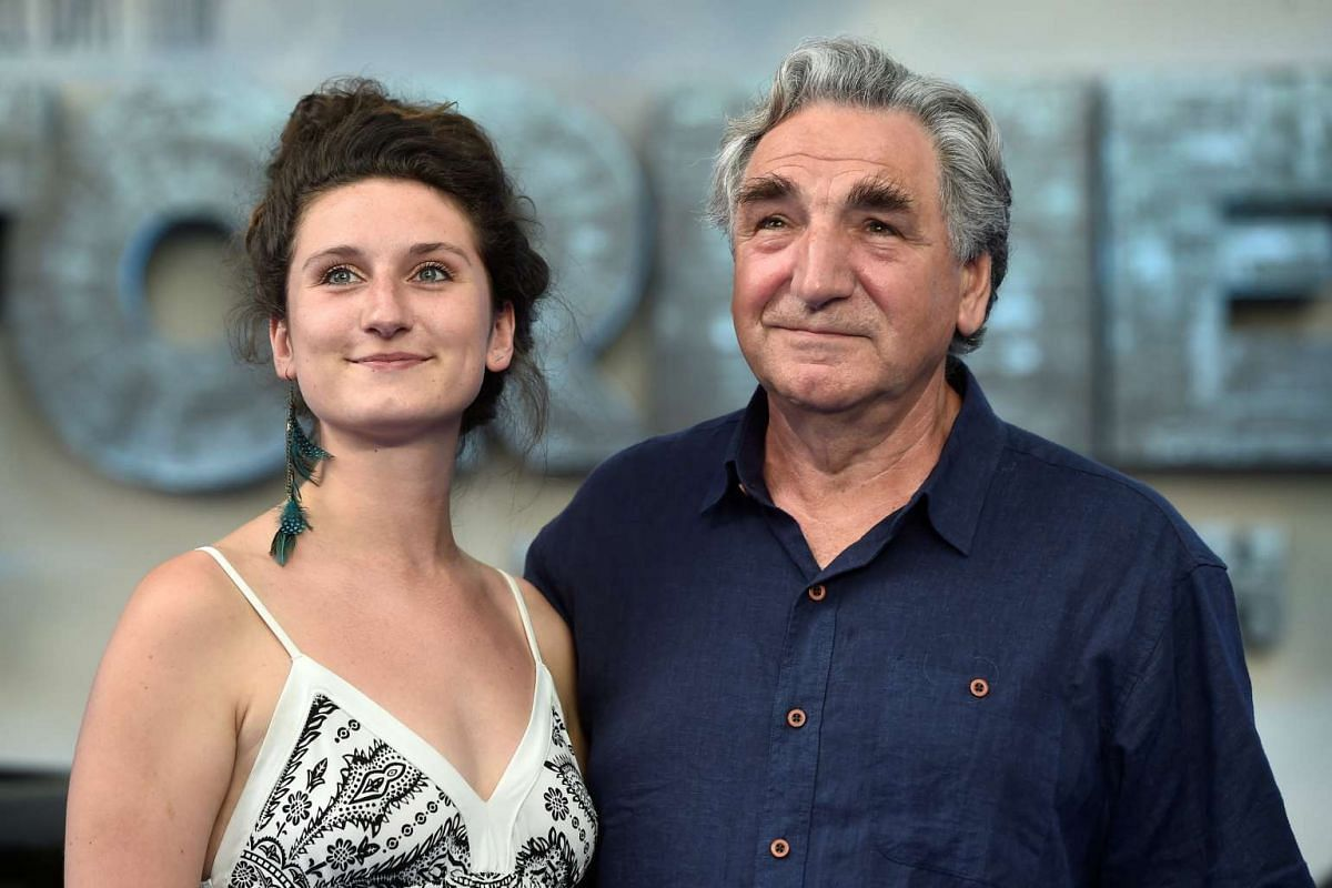 Jim Carter and his daughter Bessie arrive for the world premiere of Transformers: The Last Knight, at a cinema in central London, Britain, June 18, 2017.