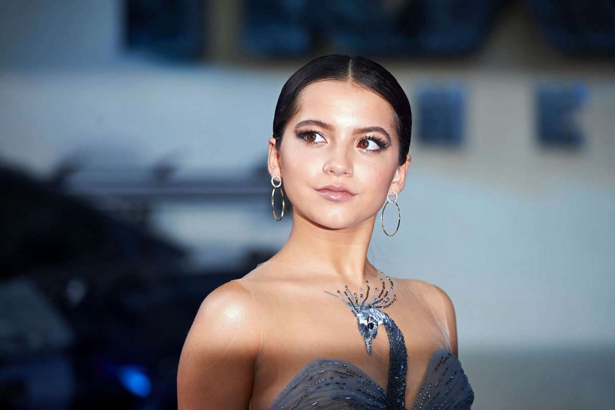 US actress Isabela Moner poses upon arrival for the global premiere of the film Transformers: The Last Knight in central London on June 18, 2017.