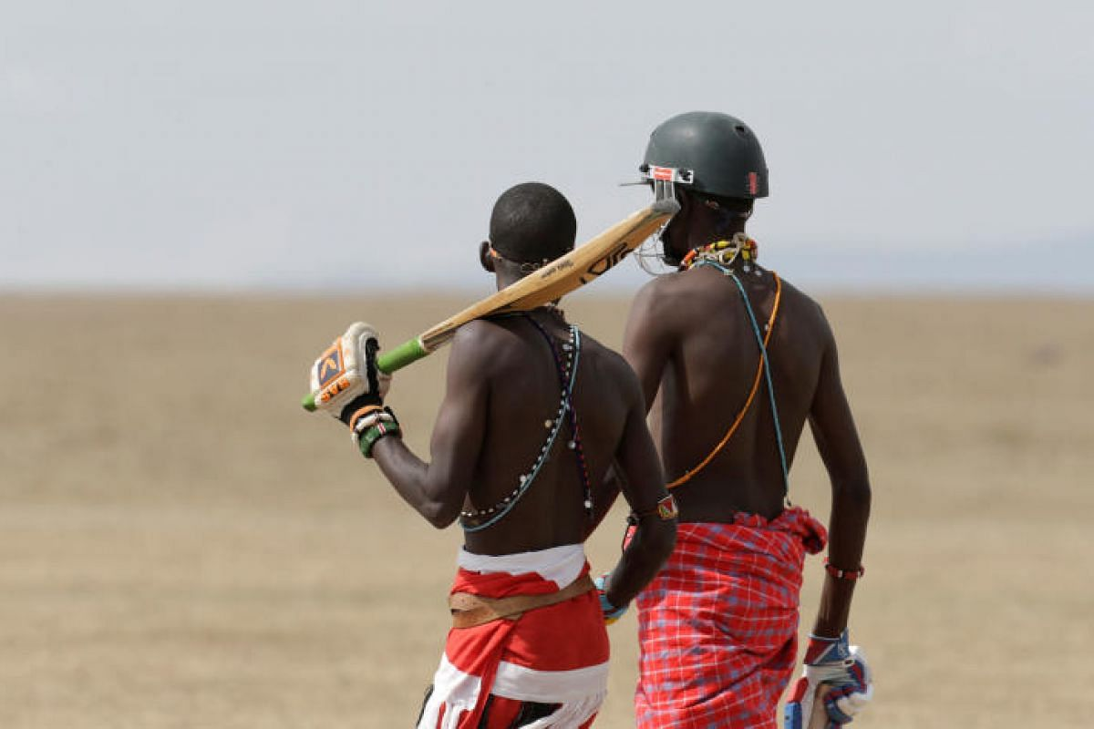 Cricket for charity is the name of the game for Daniel Mamai and Francis Ole Meshami of the Maasai Cricket Warriors.