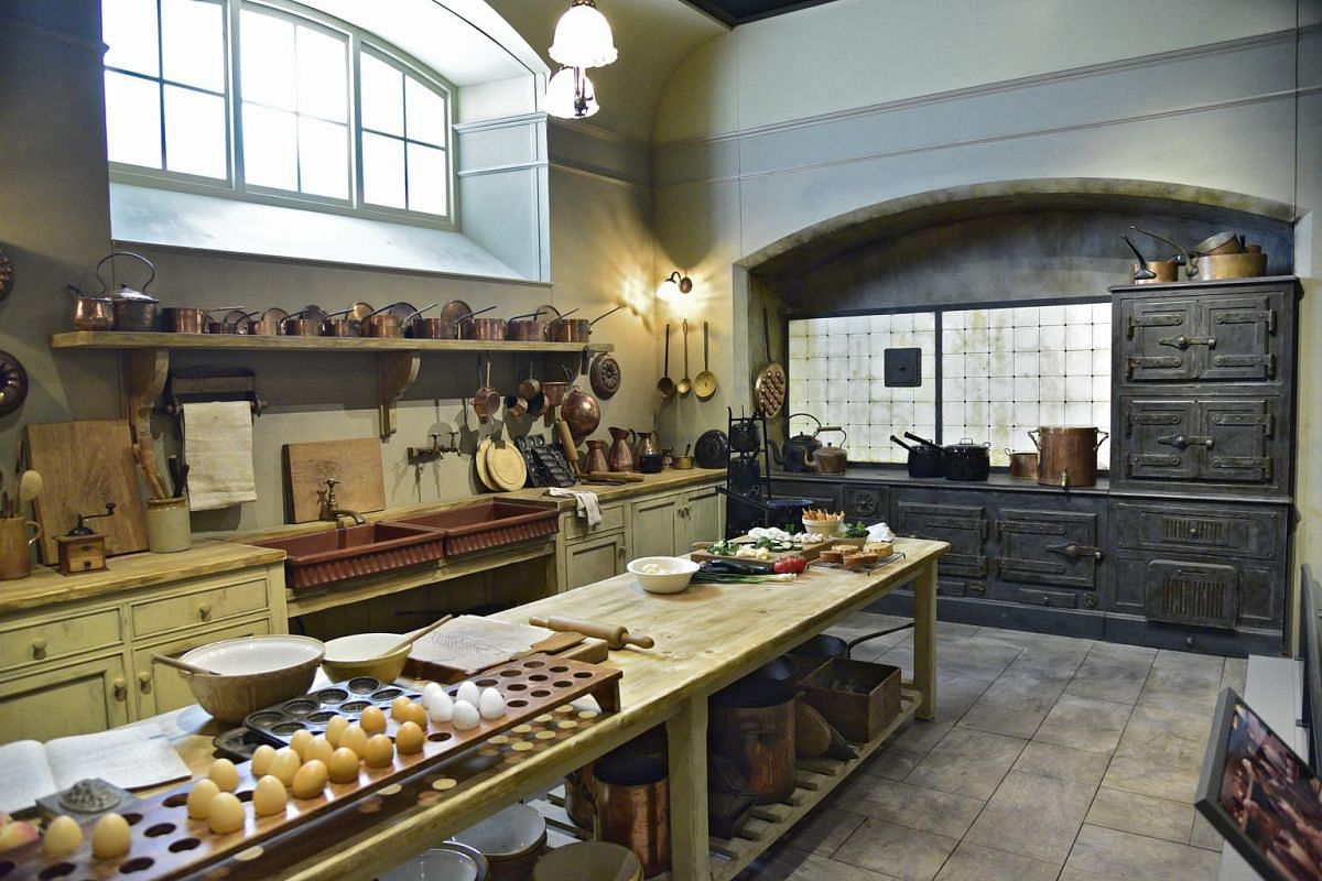 The kitchen of Downton Abbey, displayed at The Exhibition at the Sands Expo And Convention Centre at Marina Bay Sands.