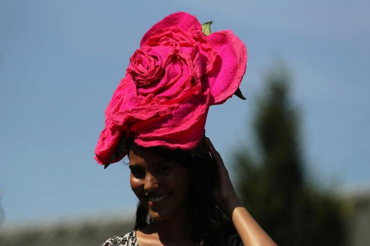 Royal Ascot is high season for British hat designers. Clients who want unique, more intricate, tailored hats may opt to buy but this can be a hefty investment. Couture hats start selling at £750 (S$1,315), and go up to £4,000. People start booking