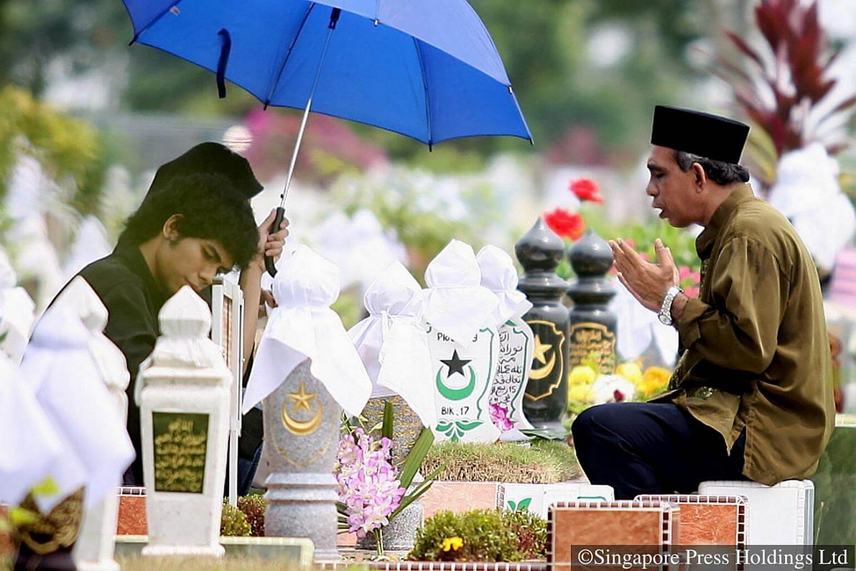 2006: It is a customary practice for Muslims to visit the cemetery during the month of Hari Raya Puasa in remembrance of their loved ones.