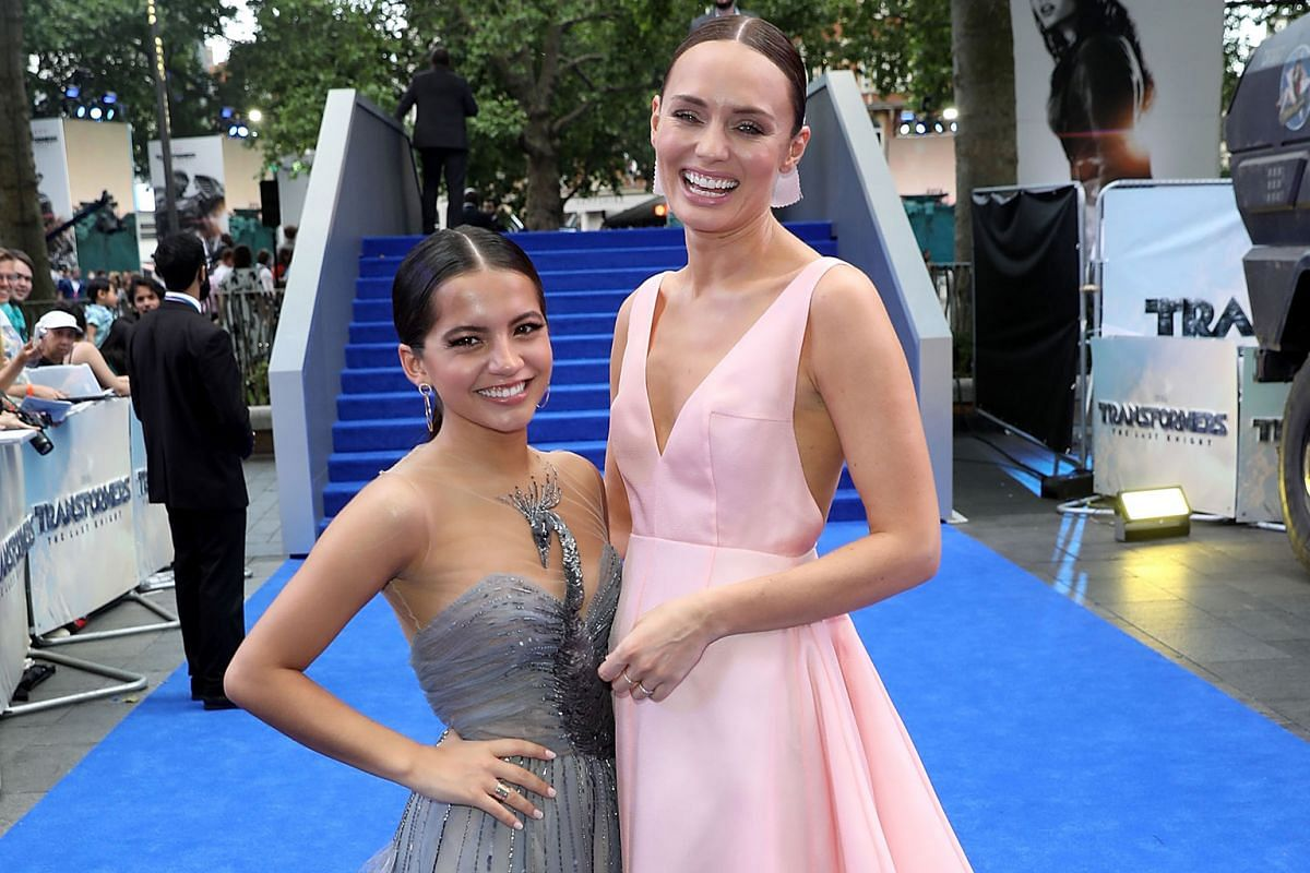 In The Last Knight, British actress Laura Haddock's (right) character is crucial in saving Earth from total devastation, while American star Isabela Moner's feisty character kicks butt better than the guys.