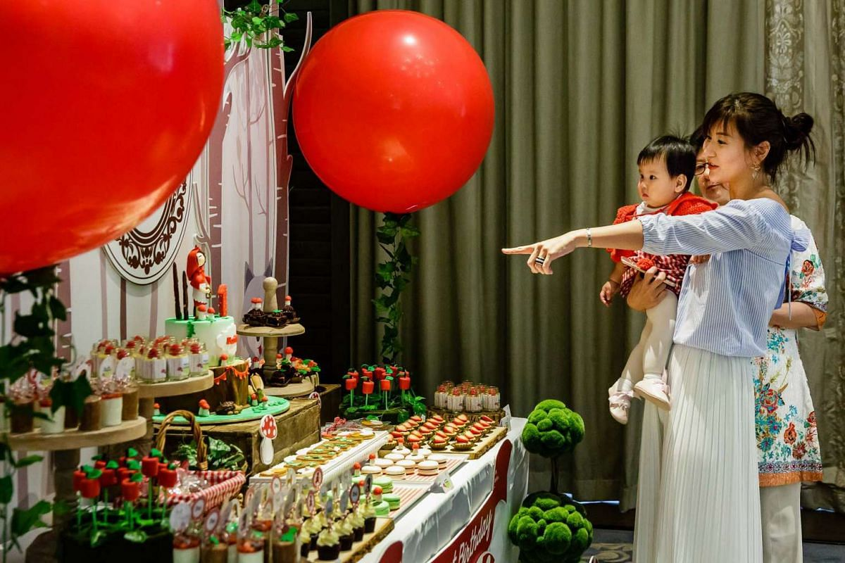 Spent $12,000: Ms Emily Qian gave daughter Faith a Red Riding Hood-themed birthday party.