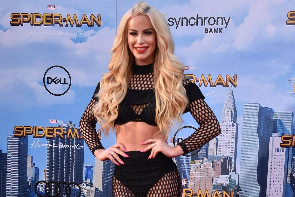 Gigi Gorgeous attends the world premiere of Spider-Man at the TCL Chinese Theater in Hollywood, California on June 28, 2017.