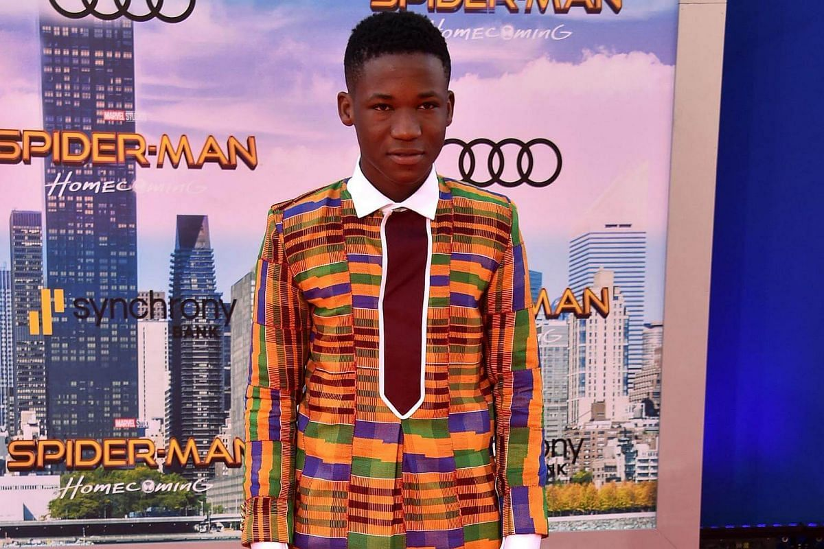 Abraham Attah attends the world premiere of Spider-Man at the TCL Chinese Theater in Hollywood, California on June 28, 2017.