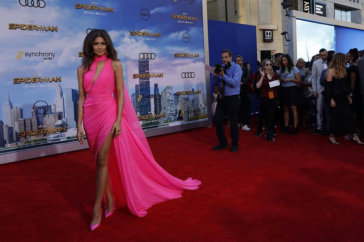 Actress and singer Zendaya attends the world premiere of Spider-Man at the TCL Chinese Theater in Hollywood, California on June 28, 2017.