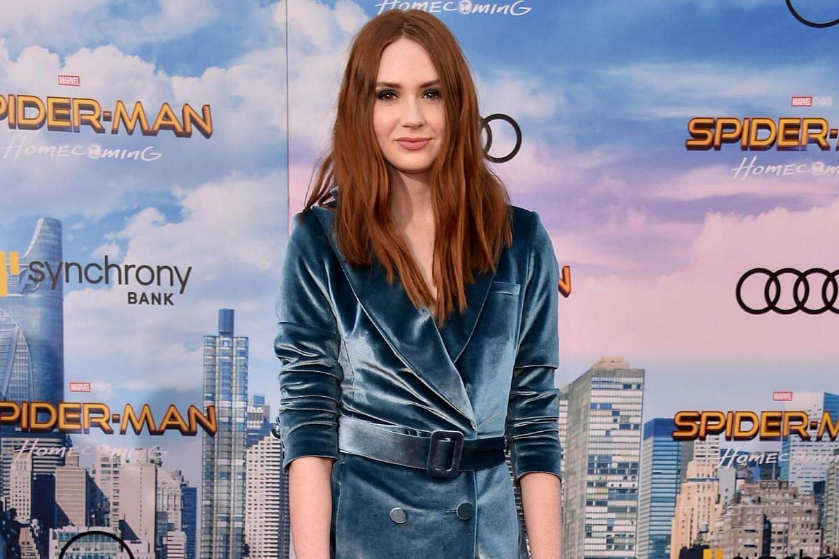Karen Gillan attends the world premiere of Spider-Man at the TCL Chinese Theater in Hollywood, California on June 28, 2017.