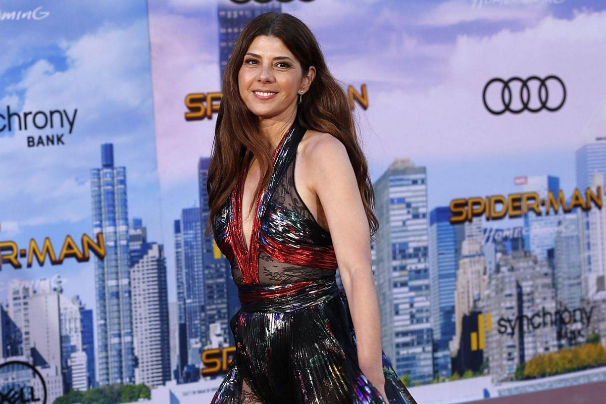 Actress Marisa Tomei attends world premiere of Spider-Man at the TCL Chinese Theater in Hollywood, California on June 28, 2017.