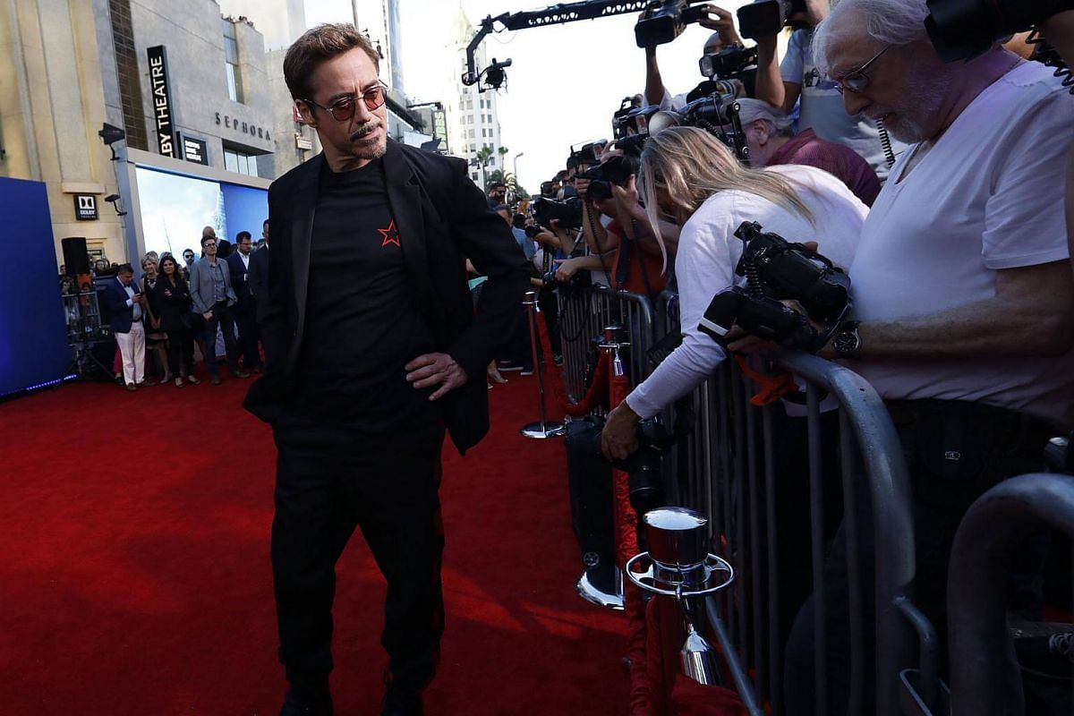 Actor Robert Downey Jr attends the world premiere of Spider-Man at the TCL Chinese Theater in Hollywood, California on June 28, 2017.