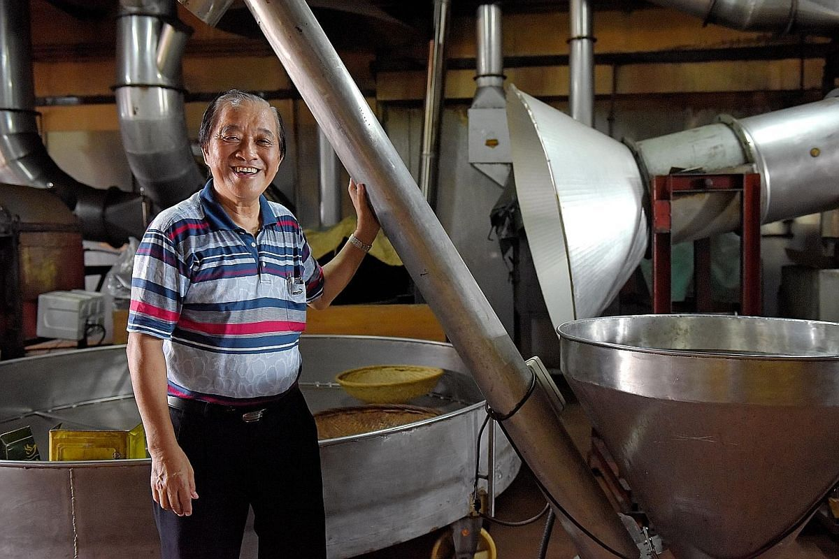 Mr Chew Theng Kuan, owner of Guan Hin Coffee Powder Manufacturing, will lead the tour of his factory. The tour at the Singapore Dance Theatre takes visitors to the wardrobe room, where more than 1,000 costumes are stored (right), while on The Esplana