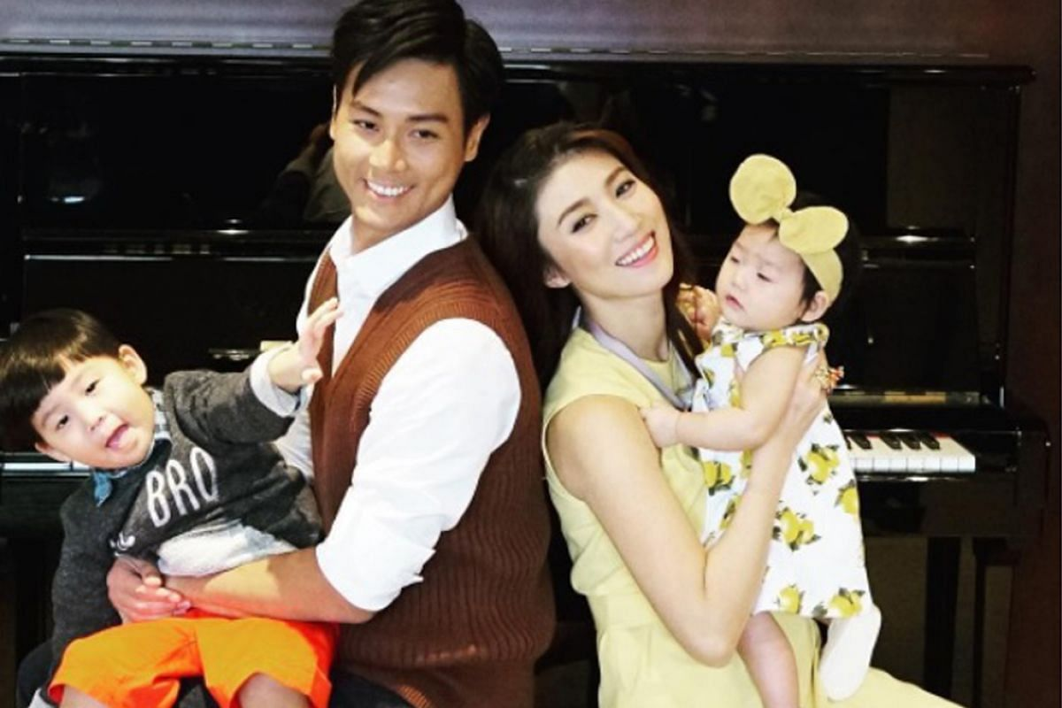 My life so far: Andie Chen with his Taiwanese actress-host wife Kate Pang, their son Aden and daughter Avery.